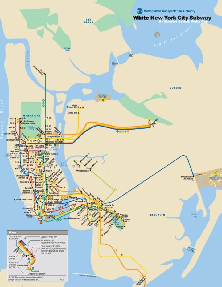 White People Subway Map